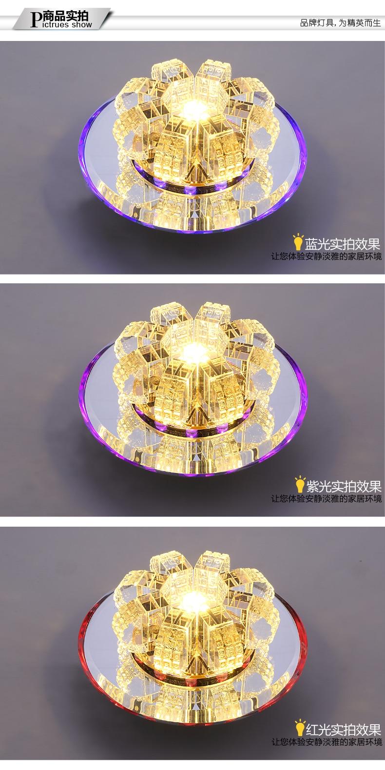 de cristal varanda lâmpada led corredor