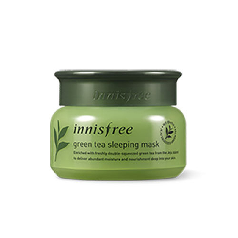 Korea Cosmetic Green Tea Sleeping Mask 80ml Face Mask Deep Nourish Brighten Moisturizing Facial Mask Hyaluronic Acid Beauty Skin цена 2017