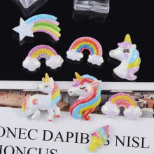 DIY Child Hair Jewelry Accessories Resin Glitter Powder Star Unicorn Rainbow for Lucy Girls Bags Phone Shell Christmas Material(China)