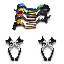 for Yamaha MT-07/FZ-07 2014-2017 with logo CNC Motorcycle Adjustable Brake Clutch Levers Folding Extendable for yamaha tdm 900 2012 2014 with logo cnc motorcycle folding extendable adjustable brake clutch levers