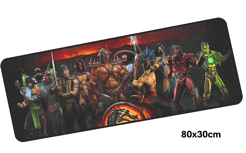mortal kombat mousepad gamer 800x300X3MM gaming mouse pad large Customized notebook pc accessories laptop padmouse ergonomic mat