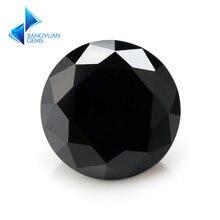 Черный блестящий камень с кубическим цирконием 35 ~ 16 мм 5