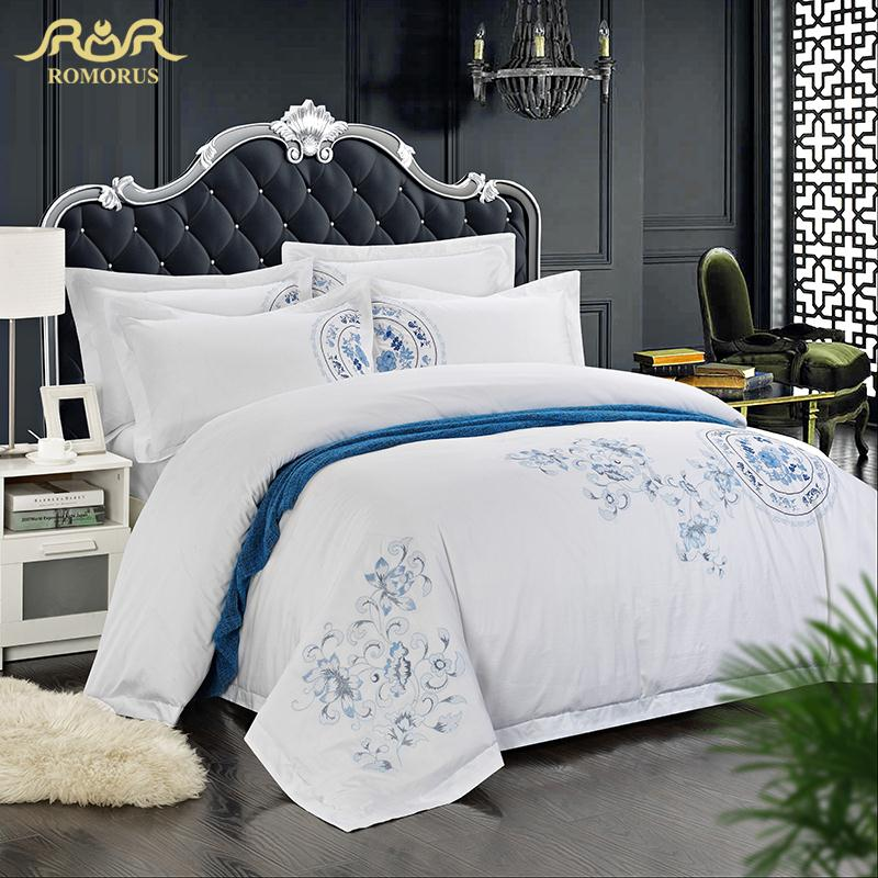 Romorus brief cotton satin fabric luxury 5 star hotel for Luxury hotel 750 collection sheets