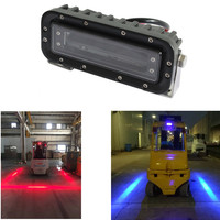 2X Red Zone Danger Area Warning Light. Warehouse Fork Truck System Safety Light. Forklift Safety Light Red