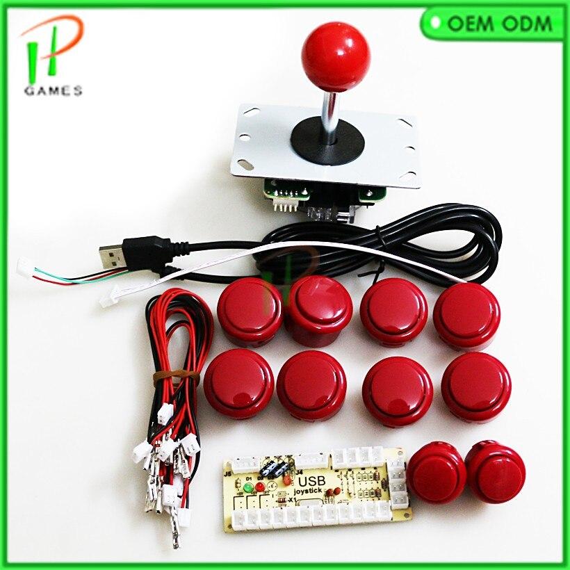 Elektrisches Spielzeug Set Joystick Koreanisch Arcade 1 Player Birne Schaltflächen Amerikaner Gelb Mame Low Price Spielzeug