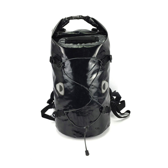a2d318a829880 50L GZL Przenośne Wszechstronny Czarny Wymienny PCV plandeki 500D dry bag plecak  wodoodporny worek z