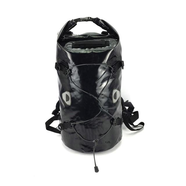e78e045487a2 GZL 50L Portable 500D PVC tarpaulin Versatile Black Removable dry bag backpack  PVC waterproof bag TB0057