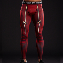FLASH 3D Printed Leggings Men Pattern Compression Tights Pants 2017 New Arrival Skinny Sweatpants crossfit Fitness Trousers Male