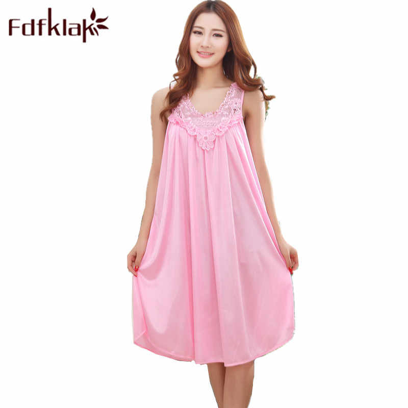 Fdfklak Maternity Sleepwear Nightwear 2018 Summer Sleeveless Dresses For Pregnant Women Nightgown For Pregnant Women XXL F10