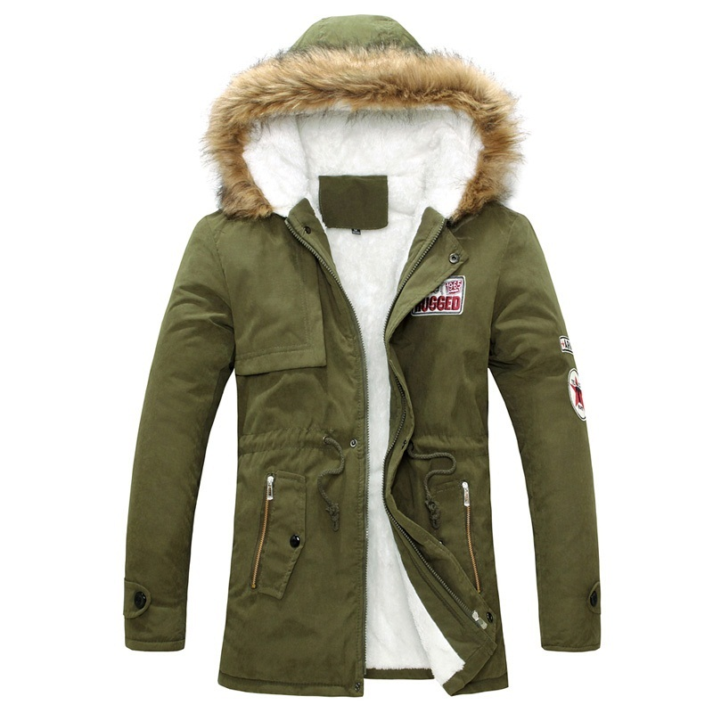 2016 Parka Men Winter New Style Warm Men s Jacket Thick Warm Fur Collar Long Cotton