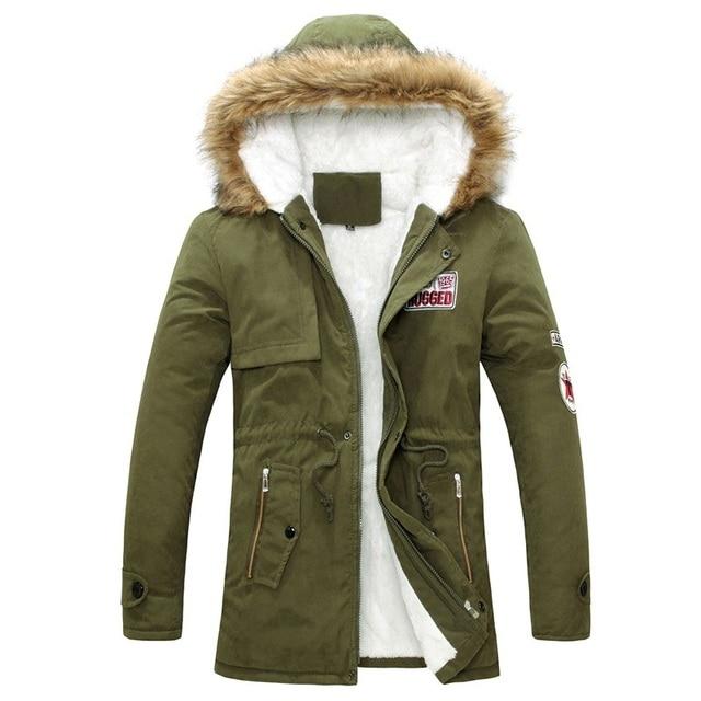 2016 Parka Men Winter New Style Warm Men's Jacket Thick Warm Fur Collar Long Cotton Jacket Men Comfortable Cotton Hooded Parkas