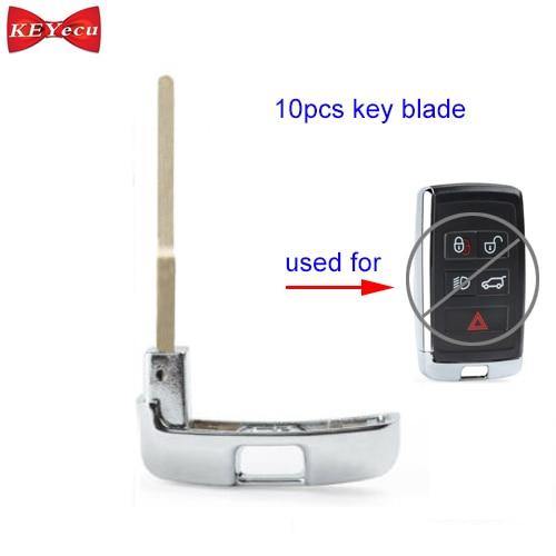 KEYECU 10pcs for Land Rover Discovery Remote Car Key Blade Emergency Key Insert for KOBJXF18A