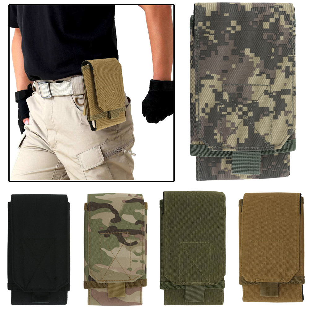Polyester Universal Army Tactical Bag for Mobile Phone Hook Cover Pouch Case Hard Wearing Heavy Duty Mobile Phone Case
