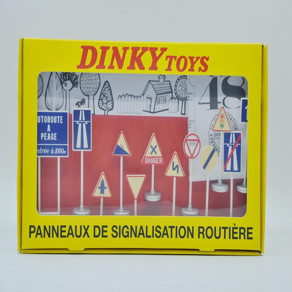 DINKY MAINAN 1:43 ref.593 Model tanda-tanda Lalu Lintas Antik Atlas MARQUE DEPOSEE Miniatur klasik