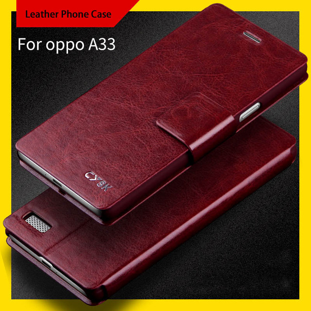 new style e18f2 99566 US $12.0 |For OPPO A33/A33t/A33w/A33f/A33m Fashion leather Flip full cover  mobile phone Case shell with Card Slot and holder function-in Flip Cases ...