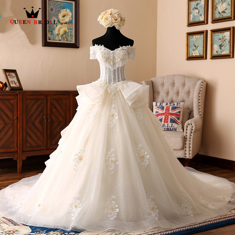 Cap Sleeve Lace Wedding Gown: Custom Made Ball Gown Cap Sleeve Lace Beading Pearls