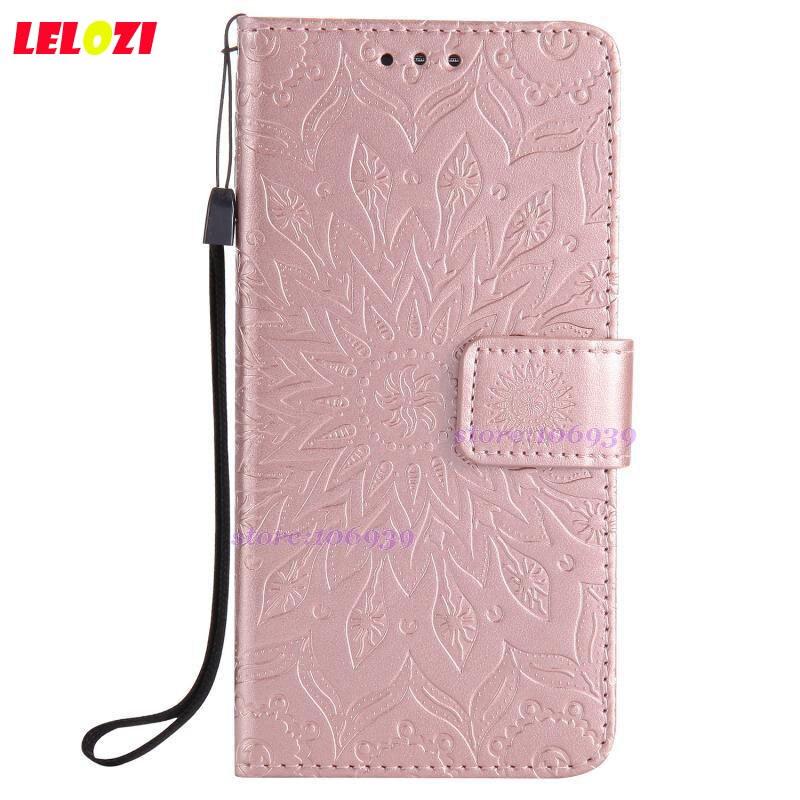 LELOZI Cell Best Luxury Girls Flip Wallets PU Leather TPU Case Caso Housing Bag Fundas Shell For LG G5 Brown Flower Sun Flower