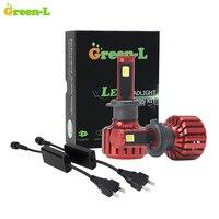 Green L 90W 11700Lm 6000K COB Chip Super Bright Car LED Headlights Kit Auto Fog White
