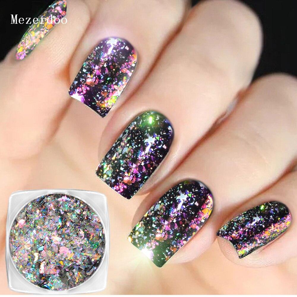 Aurora Chameleon Nail Glitter Magic Effect Sequins Flakes 0.2g Holographic Shining Nail Art Powder Dust Dazzling Nail Decoration