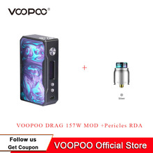 VOOPOO DRAG TC Box mod VOOPOO 157 watt 18650 Box Mod Keine Batterie Elektronische Zigarette Box Mod Fit VOOPOO Pericles RDA(China)