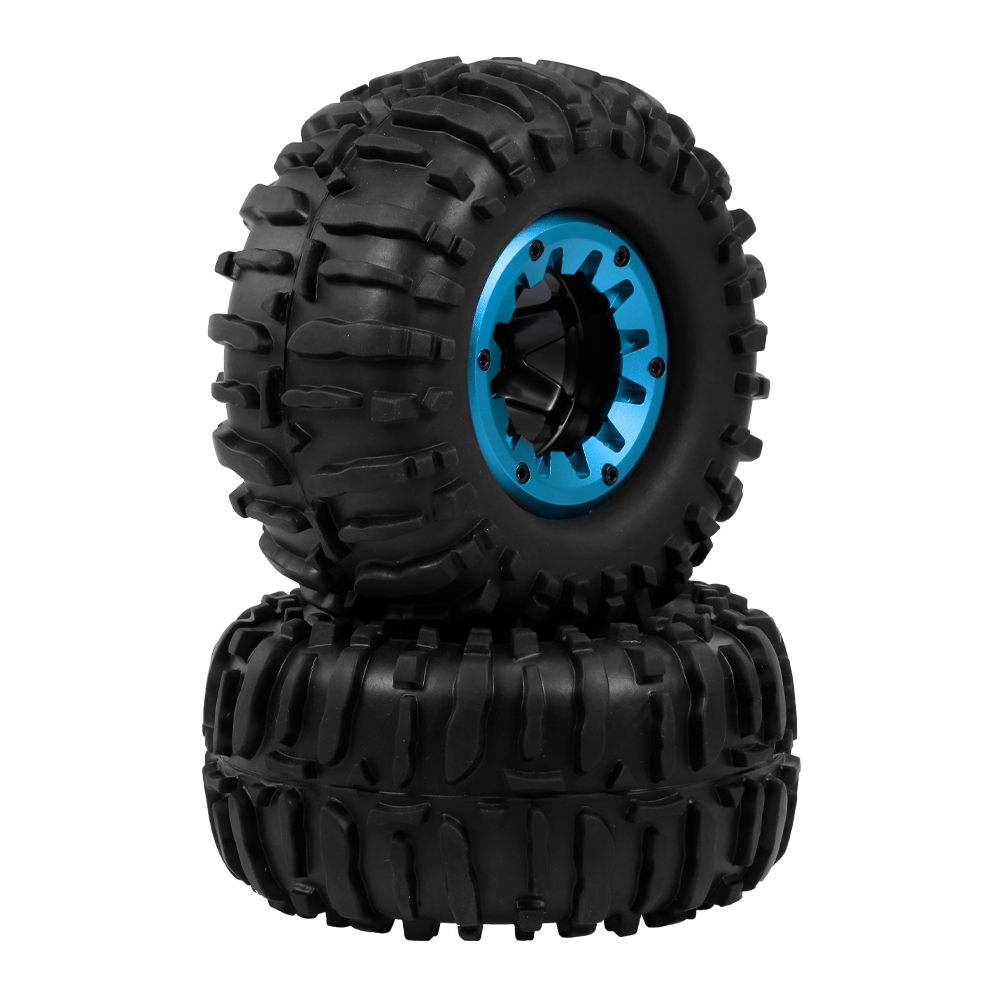 2pcs 2.2 Inch Rock Crawler Tire Rim Rubber Tyre Tire Wheel For 1/10 Rock Axial Wraith RR10 Trx-4 Jeep HPI RC Car Upgrade Parts