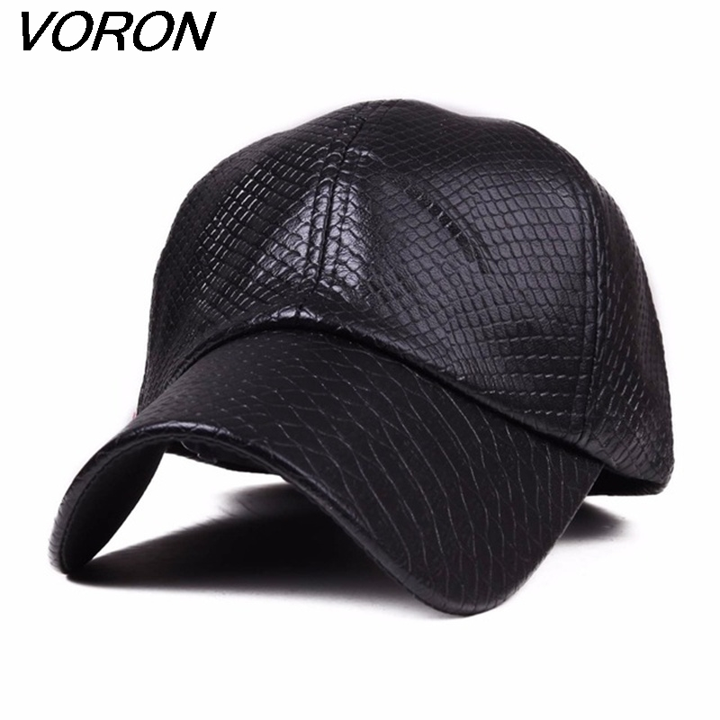VORON new fashion PU black Baseball Cap women Hats For men fall Leather cap Trucker cap Sports snapback winter hats for women 2016 new new embroidered hold onto your friends casquette polos baseball cap strapback black white pink for men women cap