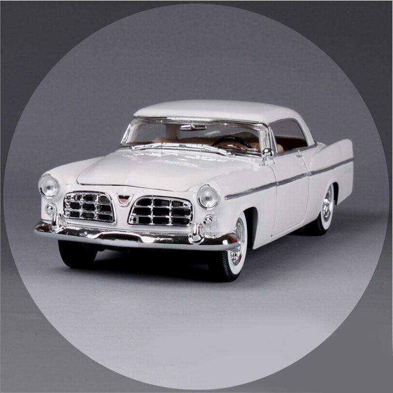 1:18 Scale maisto Classic children 1956 Chrysler 300b antique vintage car metal diecast vehicle gift model kids toys collectible maisto 1959 cadillac eldorado biarritz 1 18 scale alloy model metal diecast car toys high quality collection kids toys gift