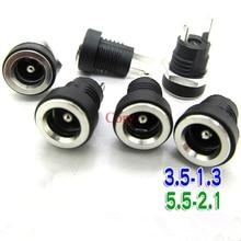3A 12 В для источника питания постоянного тока гнездо гнездовой панельный разъем 5,5 мм 2,1/2,5 мм переходник 2 контакта 5,5*2,1 5,5X2,5 3,5-1,3