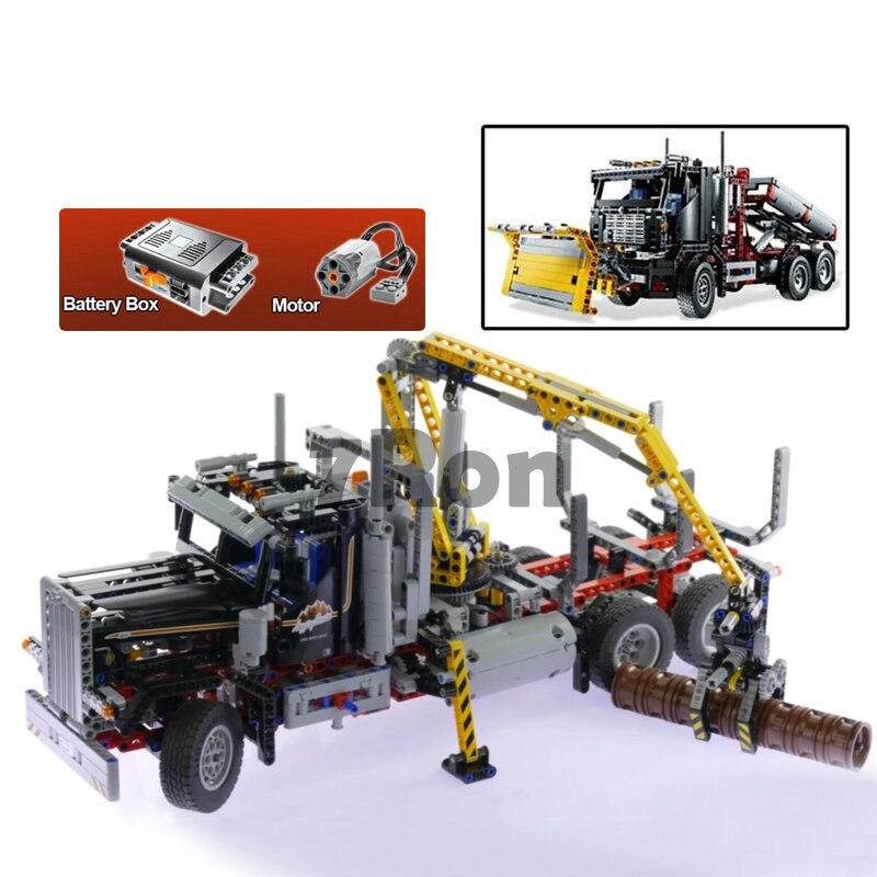 Compatible with Lego Technic Logging Truck 9397 model 20059 1338pcs Set building blocks Figure bricks toys for children hobbies compatible with lego technic series 8052 20027 720pcs container truck building blocks figure bricks toys for children