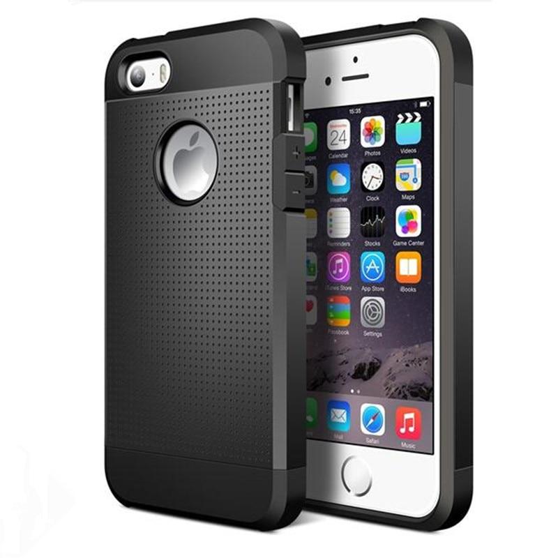 Apple iphone üçün lüks nazik davamlı zirehli telefon çantası iphone6 üçün hibrid silikon kauçuk zərbəyə davamlı qoruyucu örtük