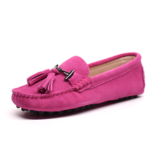 High Quality Women Shoes 100% Genuine Leather Flats Women Causal Shoes Women's Loafers Spring Autumn Driving shoes
