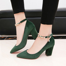 Обувь Женщина 2017 Новый Мелкая Рот Замши С Женская Обувь На Высоком Каблуке 34-39 Zapatos Mujer chaussure femme коготь Sapato женщина для