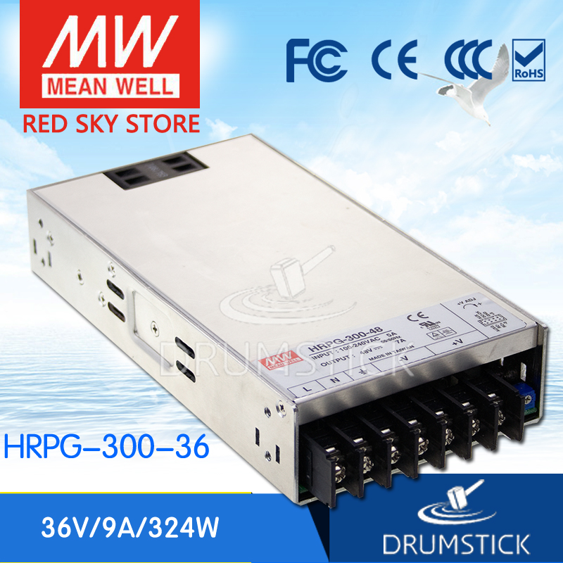 MEAN WELL HRPG-300-36 36V 9A meanwell HRPG-300 36V 324W Single Output with PFC Function  Power SupplyMEAN WELL HRPG-300-36 36V 9A meanwell HRPG-300 36V 324W Single Output with PFC Function  Power Supply