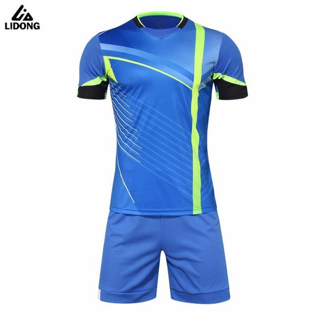 0f2cb81da New Design Mens Football Jerseys High Quality Short Sleeve Soccer Training  Breathable Football Jerseys Set Sportswear Uniforms
