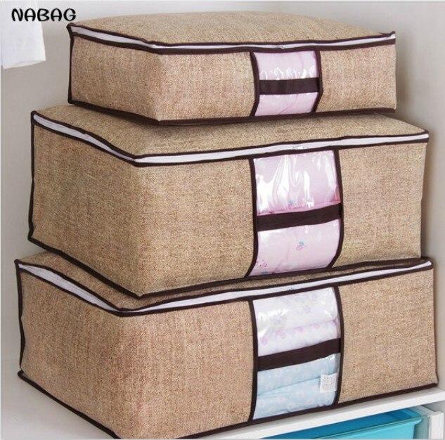 Nabag 1pc Non Woven Clothing Storage Bag Closet Organizer E Saver Blanket Pillow Quilt