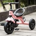 Niños del bebé inflable de tres ruedas bicicleta de doble suspensión de cuero correas regalos para los niños de la bicicleta