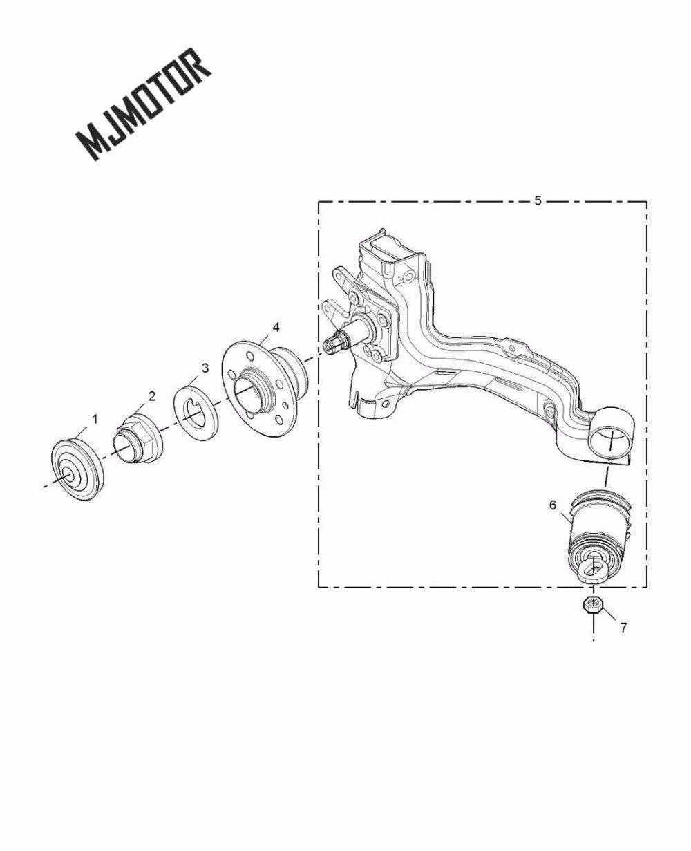 Roulement de moyeu de roue pour chinois SAIC ROEWE 550 MG6 Auto voiture moteur pièces 10002285 - 4