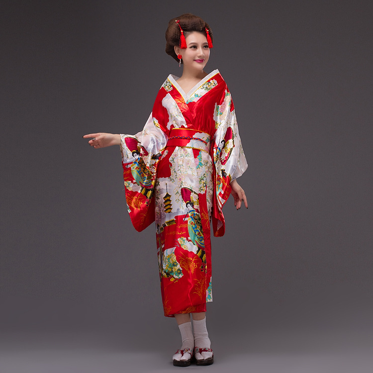 Woman Lady Japanese Tradition Yukata Kimono Costume Japanese Cosplay Costume Floral