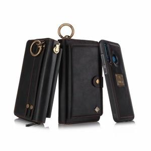Image 4 - Carteira com pulseira para celular, bolsa de couro com capa para proteção de luxo huawei p30 pro lite nova4e funda etui saco do saco