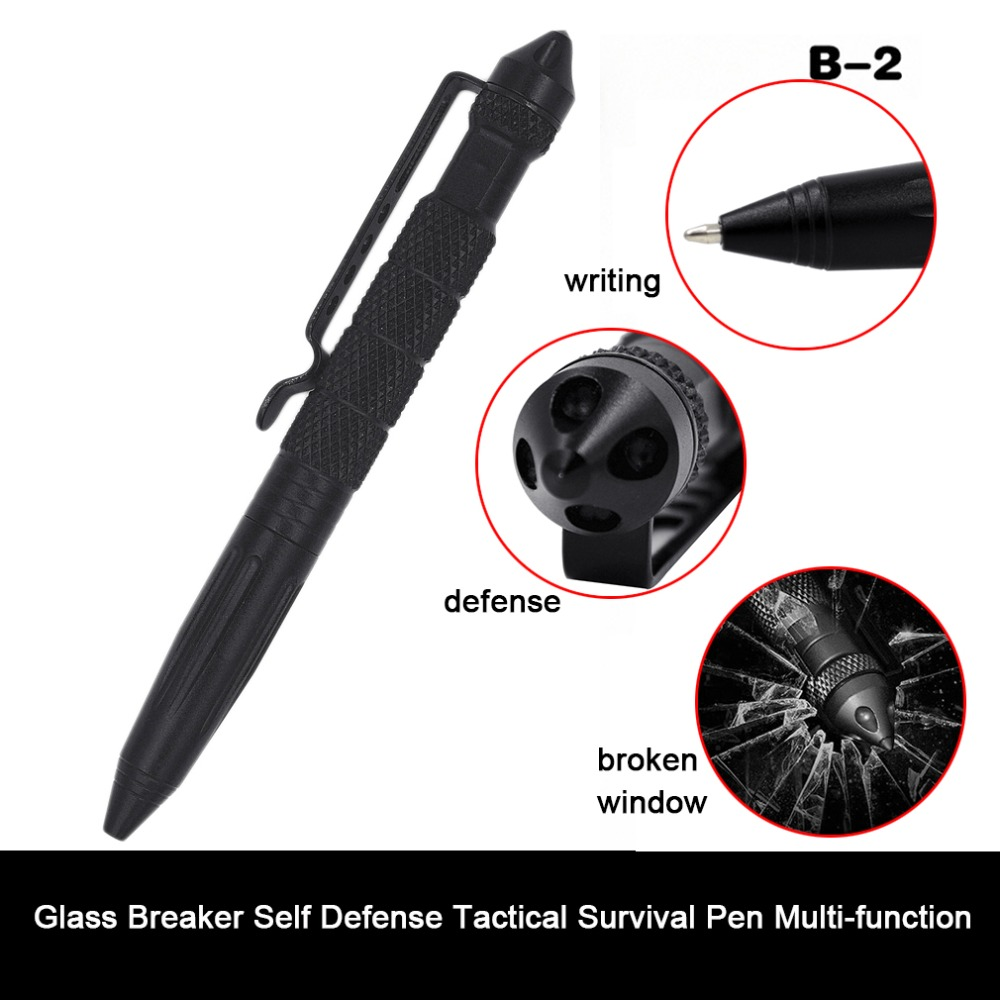 Practical Tactical Pens Glass Breaker Self Defense Tactical Survival Pen Multi-function Camping Tool For Writing