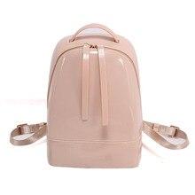 7018625eff SUNNY BEACH brand luxury jelly bag designer women packback candy color Backpacks  PVC waterproof ladies Backpack