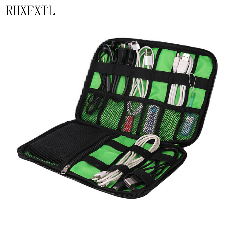 RHXFXTL Brands Travel Organiser Bag Packing Charger Data Line Package Travel Accessories Electronics Charger Data Line Case