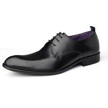 Роскошные площади одноцветное Цвет Пояса из натуральной кожи Для мужчин S Обувь ручной работы Мода модная обувь Для мужчин; платье в деловом стиле Водонепроницаемый Оксфорд Обувь
