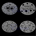 Pacote de 4 Variety Bolo Queque Molde Modelo Stencil de plástico Espiral Aniversário Decoração Cozinha Jantar Bakeware Bolo de Ferramentas