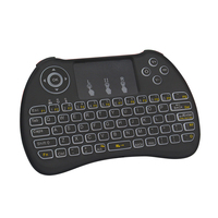 Mini Wireless Keyboard Backlight Backlit Touchpad 2.4G Air Mouse USB Remote Control for Android TV box Notebook PC for Orange pi