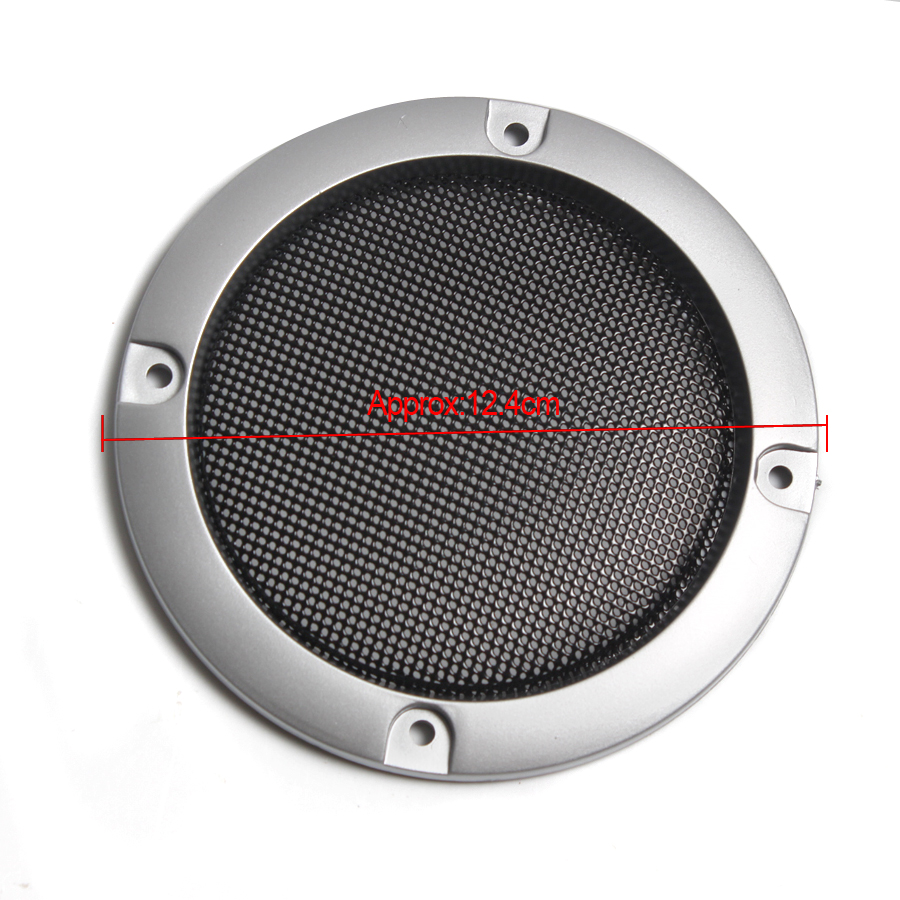 Image 5 - 1 Pair  High grade Silver Replacement Round Speaker Protective Mesh Net Cover Speaker Grille 2/3/4 inch Speaker Accessories-in Speaker Accessories from Consumer Electronics