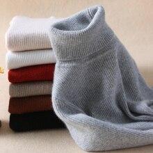 Осенне-зимняя обувь Новый кашемировый свитер женский Высокий воротник комплекты из свитера тонкий свитер теплая шерсть шерстяная куртка