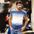 Brand New Homens SIMWOOD Roupas T shirt do Verão de manga Curta Carta o-pescoço T-shirt Magro Casual Mens Tops T Frete Grátis TD1080