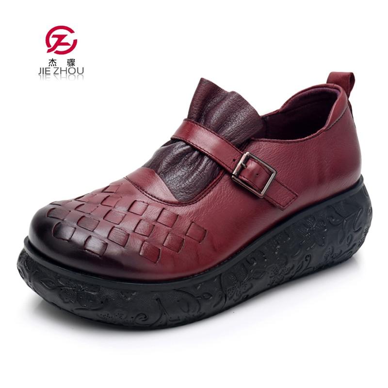 2019 nowych kobiet buty platformy mokasyny damskie eleganckie oryginalne mokasyny skórzane buty kobieta jesień Slip On buty damskie na co dzień w Damskie buty typu flats od Buty na AliExpress - 11.11_Double 11Singles' Day 1