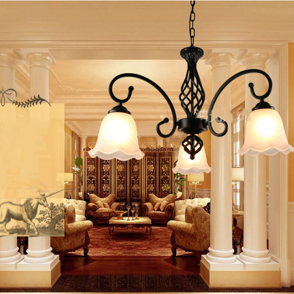 Hghomeart living room e27 retro chandelier iron art simple hghomeart living room e27 retro chandelier iron art simple atmosphere modern bedroom restaurant ceiling lamp in chandeliers from lights lighting on arubaitofo Gallery